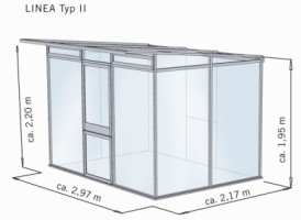 KGT Gewächshaus 'Linea II', 10mm Iso-HKP, T 2,17xB 2,97m