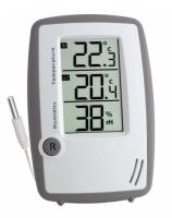 Gewächshaus-Thermo-Hygrometer, digital, mit Fühler